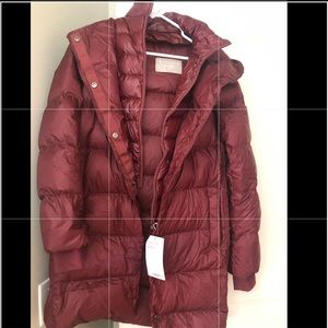 Athleta Long parka down jacket